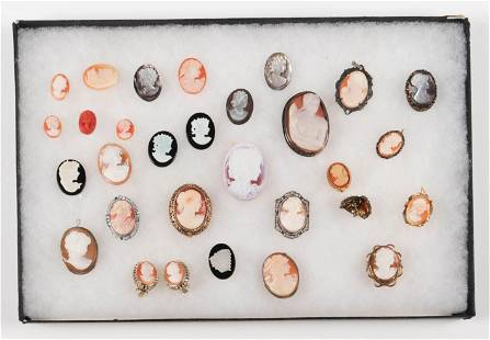 (29) Pc Collection of Carved Cameos