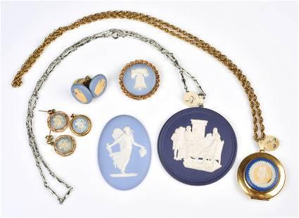 (7) Wedgewood Jasperware Jewelry group