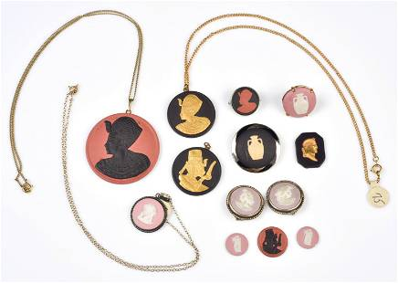 Wedgwood Jewelry, Pink and Egyptian Designs