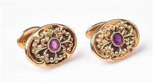 10K YG Ornate Victorian Cufflinks