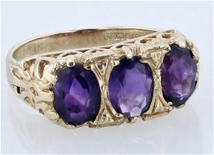 9ct Amethyst Ring