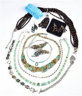 Silver Gemstone Bead Mixed Lot