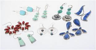 (8) Pc Sterling Silver Earring Lot