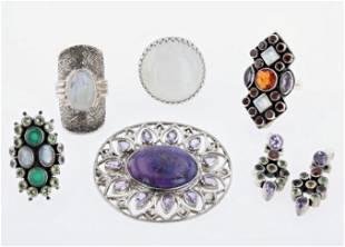 (6) Pc Silver Jewelry Lot