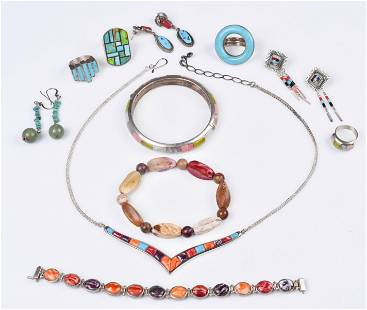 Inlay Turquoise Jewelry Lot