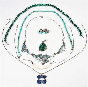 (7) Pc Southwestern Jewelry Lot