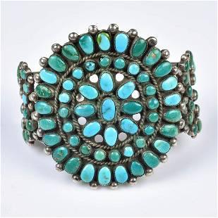 (1) Vintage Zuni Turquoise Cuff