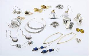 (16) Sterling silver Earring Pairs