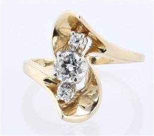 14K YG Diamond Cocktail Ring