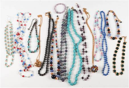 (15) Colorful Costume Beaded Necklaces