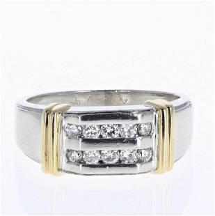 Platinum and 18K Men's Diamond Ring