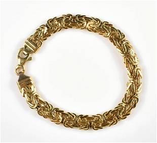 14K YG Turkish Flat link Bracelet