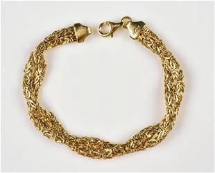 14K YG Turkish Link Bracelet