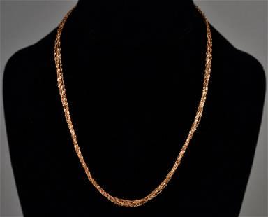 14K Rose Gold Multi-Strand Necklace