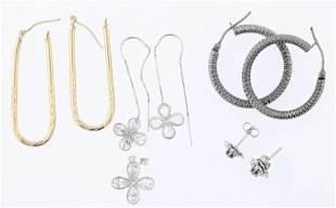 (5) Pc Gold Earring Lot