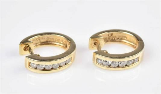 14K YG 0.24Ctw Diamond Earrings