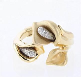 14K Lily Flower Ring by 1958 Graziella