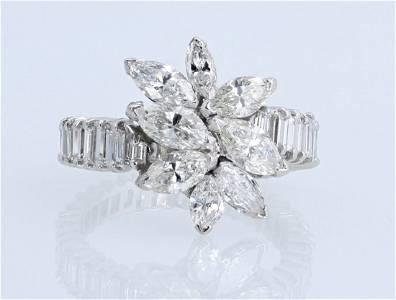 Exquisite Ladies Eternity Plat. Diamond Ring 5.0ctw