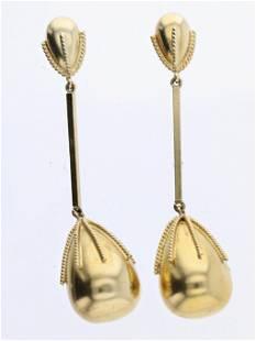 14K YG Drop Earrings