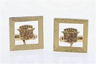 Vintage Gold Filled Cadillac Cufflinks