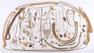 Modern Costume and Gold tone Silver Jewelry Lot