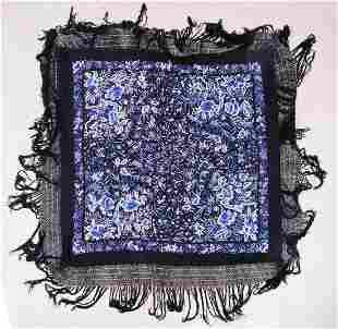 Oversized Silk Embroiderd Piano Shawl