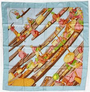 Hermes Marche Flottant Du Lac Inle II Silk Scarf