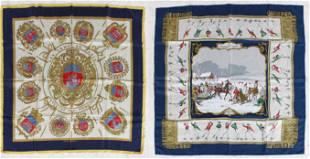 (2) Hermes Silk Scarves