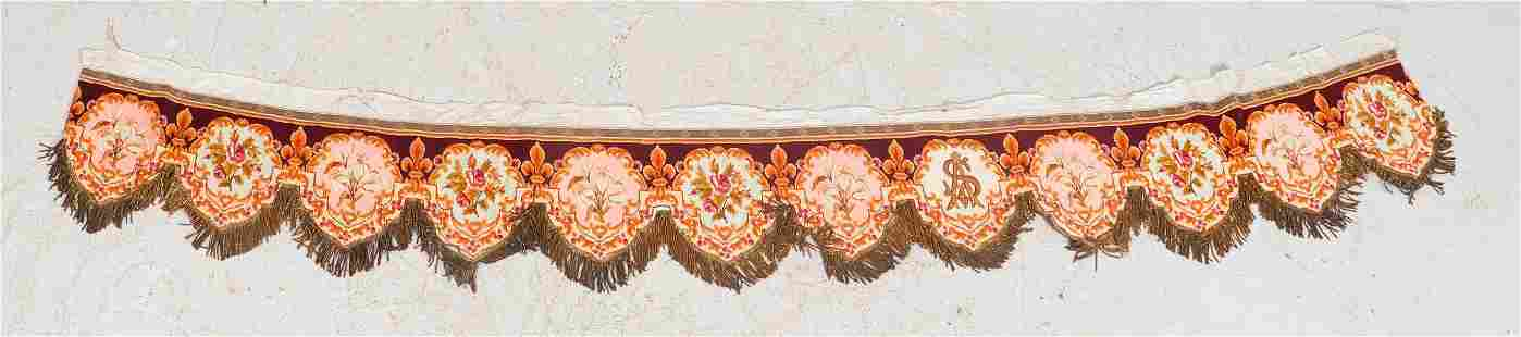 19th C French Needlepoint and Bullion Altar Frontal