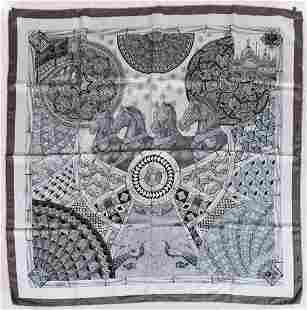 Hermes Trophees de Venise Silk Scarf