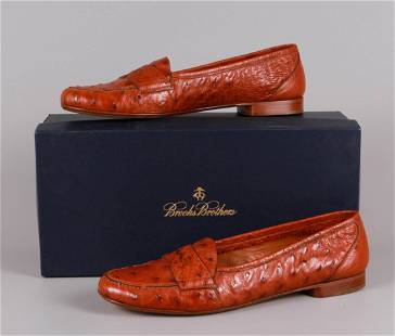 Brooks Brothers Ostrich Loafers