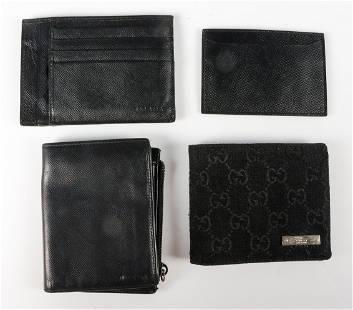 (4) Prada and Gucci Wallets