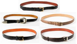 (5) Reptile and Style Belts
