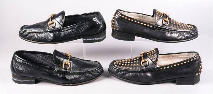 (2) Pair Gucci 1953 Collection Horsebit Loafers