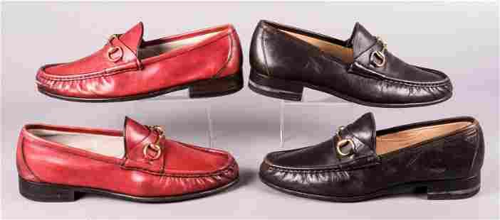 (2) Pair Gucci Horsebit Loafers