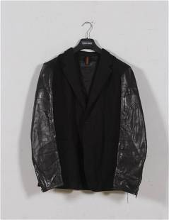 Men's Gucci Leather, Wool and Cashmere Jacket