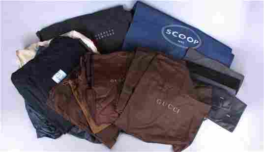 Large Grouping Designer Garment and Dust Bags