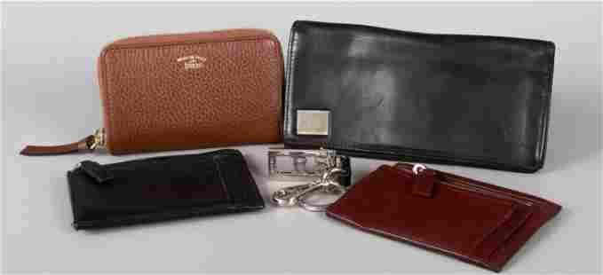 (5) Prada, Versace and Gucci Wallets and Keychain