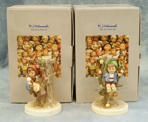 2: 2 Hummel figurines: Apple Tree Boy candlestick - 677
