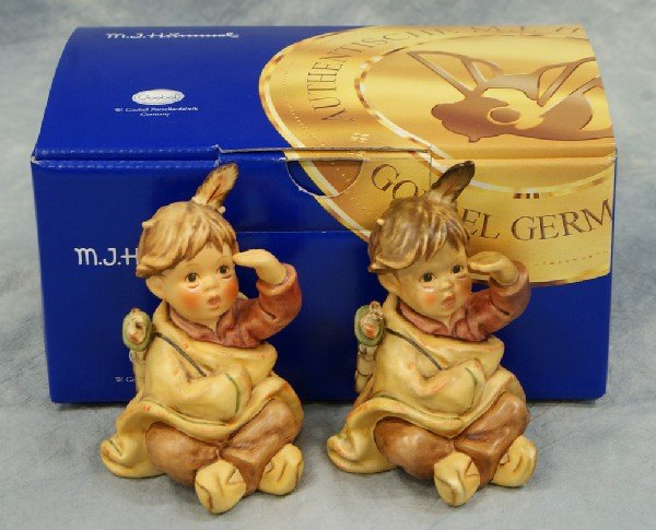 4: 2 Hummel figurines:  American Wonderer - 2061, 4 1/2