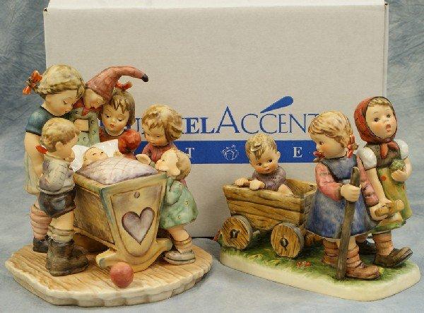 "8: 2 Hummel figurines: Pleasant Journey - 406, 6"" x 7"";"