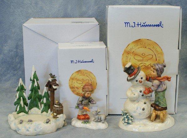9: 2 Hummel figurines: Making New Friends - 2002, 6 1/2