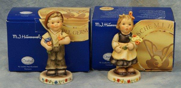 "11: 2 Hummel figurines: Pretty Posie - 2174/A,  4"" tall"