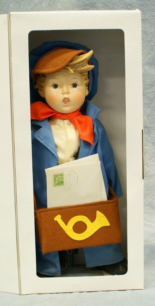 """15: M.I. Hummel doll: Postman, 14 1/2""""tall; modern mark"""