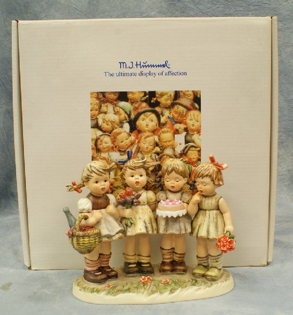 "17: Hummel figurine: We Wish You the Best - 600, 8"" x 9"