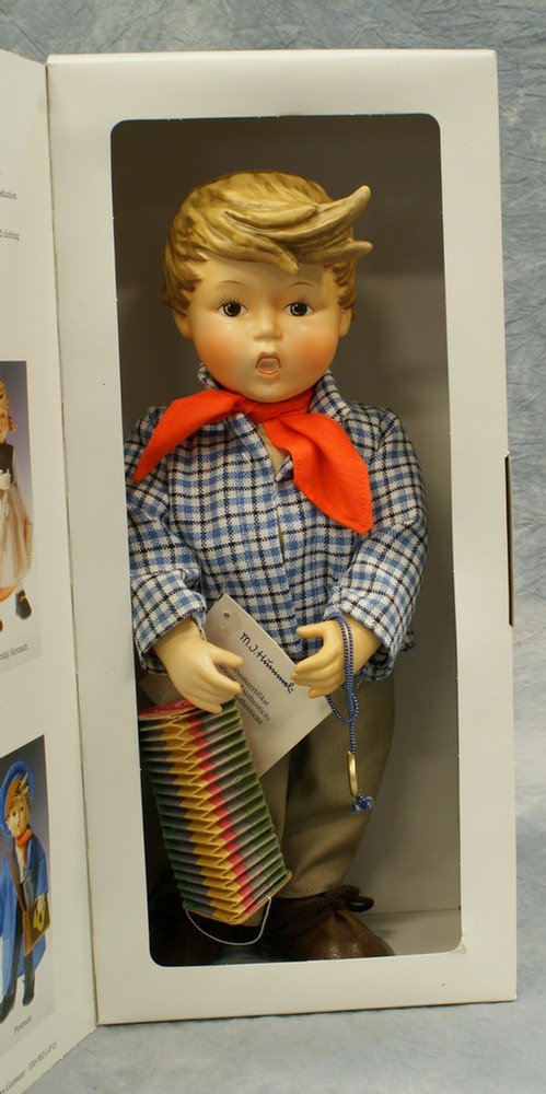 """18: M.I. Hummel doll: Birthday Serenade, 14 1/2"""" tall;"""