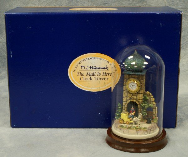 """20: Hummel figurine: The Mail Is Here Clock Tower - 8"""""""