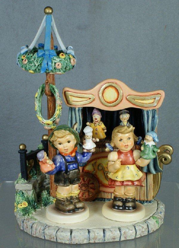 """21: 3 Hummels: Puppet Theatre - 1094-D, 8"""" tall; Puppet"""