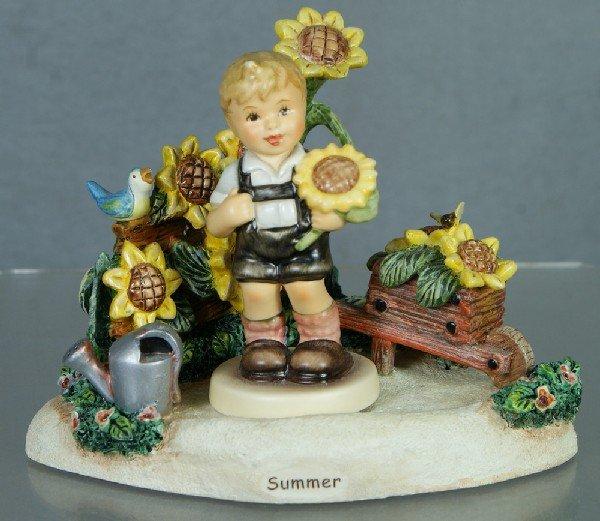 """22: 2 Hummel figurines: Summer Days - 1112-D, 4"""" tall;"""
