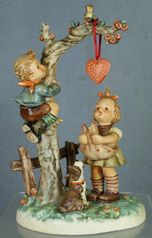 "23: Hummel figurine: Here's My Heart - 766, 11"" tall; m"